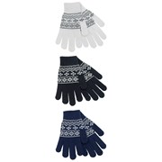 rjm Ladies Fairisle Gloves W Glitter Asst Colours (GL540)